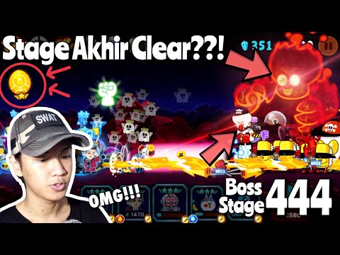 MAIN STAGE AKHIR [BOSS STAGE 444] !!! | LINE RANGERS INDONESIA