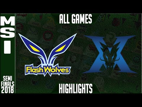 FW vs KZ Highlights ALL GAMES Semi-Finals | MSI 2018 Semifinals Flash Wolves vs King-Zone DragonX