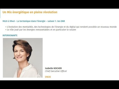 Smart Energies Summit - Intervention d'Isabelle KOCHER