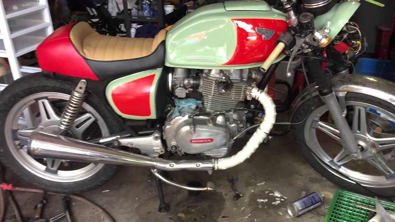 1978 Honda CB400 Cafe Racer Buildpart 11seat Upholstery Done
