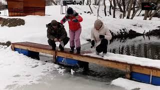 Платная рыбалка по льду пруд Чёрные камни 01 02 20г Зимняя рыбалка на форель