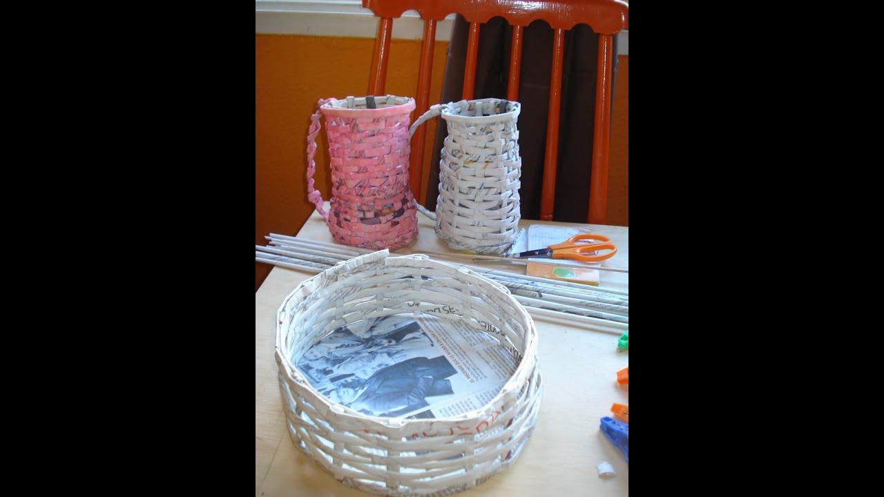 Cesta de papel periodico proyecto la base i parte - Cestas de papel de periodico ...