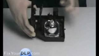 Panasonic TY-LA1000 Lamp Replacement Video Guide