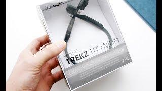 видео Наушники AfterShokz Trekz Titanium с костной проводимостью (голубые)