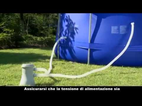 Montage piscine hors sol tubulaire lijong youtube for Piscine hors sol tubulaire amazon