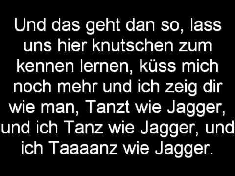 Alexibexi Moves like Jagger Deutsch Lyrics (on Screen)
