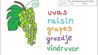 How to draw a bunch of grapes for children / nursery rhymes