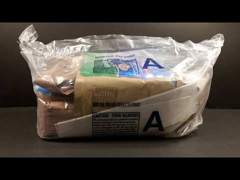 2016 Australian CR1M 24hr MRE Meal Ready To Eat Review Military Combat Ration Pack Taste Test