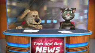 Talking Tom & Ben News get into a slow moshin fight