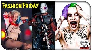 "GTA 5 Online - ""SUICIDE SQUAD"" FASHION FRIDAY! (The Joker, Deadshot, Harley Quinn & More) [GTA V]"