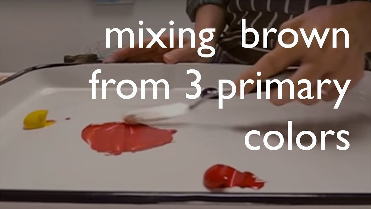 Color Mixing: Mixing brown from from the 3 primary colors