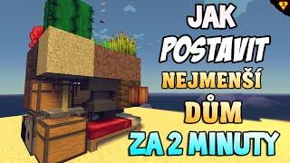 jak postavit nejmenš dům nebo pevnost v minecraft za 2 minuty cz sk