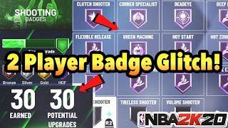 NBA 2K20 2-PLAYER BADGE GLITCH! SUPER EASY!!!