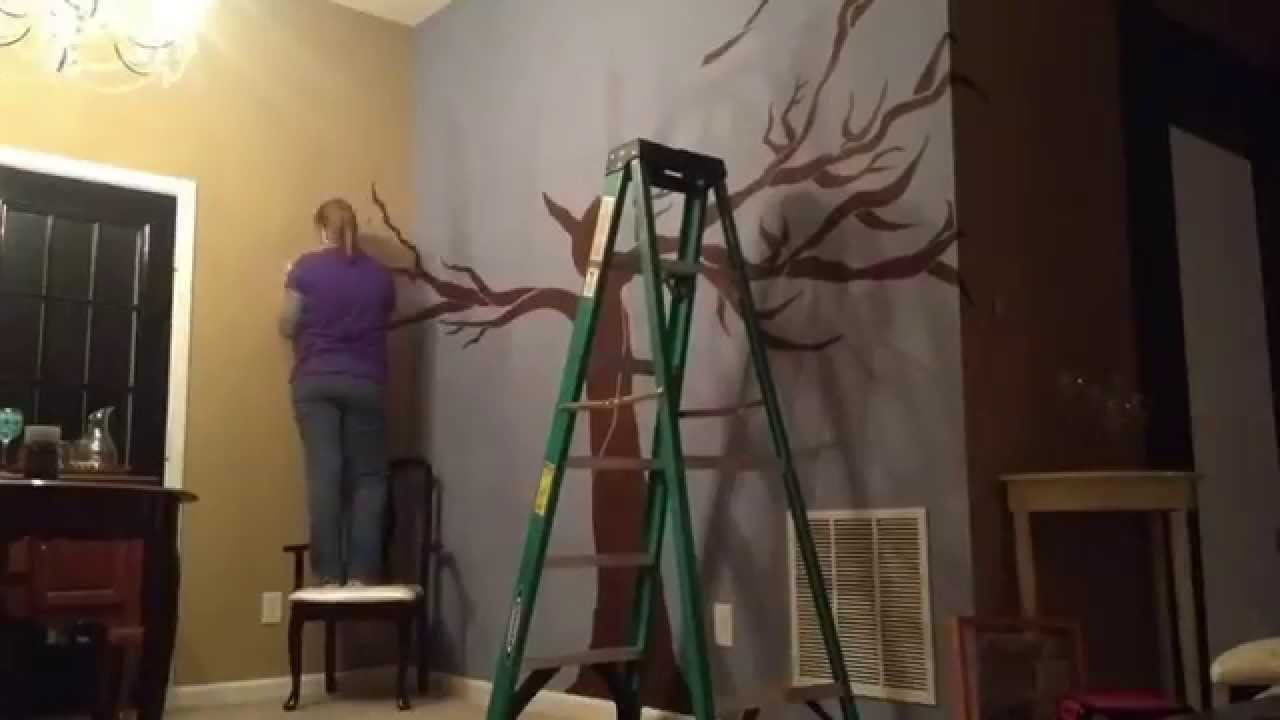 Painting The Family Tree On The Wall Youtube