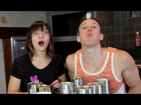 EXTREME Tin Can Challenge! Olga Kay & Davey Wavey