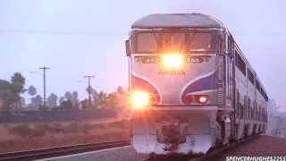 Amtrak Trains - San Juan Capistrano, San Clemente, Oceanside & Carlsbad (October 19th, 2013)