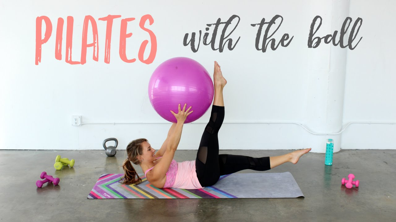 Pilates with a Stability Ball! | Full Body Pilates Ball ...