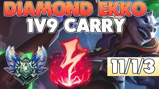 HOW TO CARRY WITH EKKO LIKE A DIAMOND PLAYER   Midlane full commentary   League of Legends