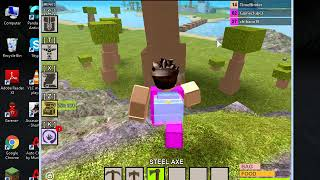 roblox boga boga new how to get adurite and steel bar easy part 2