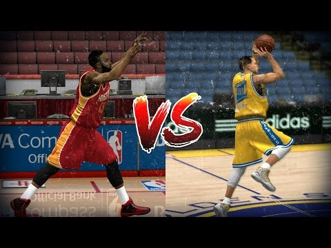 James Harden vs Stephen Curry - Half Court...