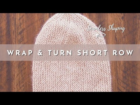 How To Knit The Wrap And Turn Short Row Stitch Youtube