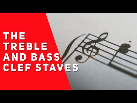 The Treble and Bass Clef Staves (Music Theory Lesson 3)