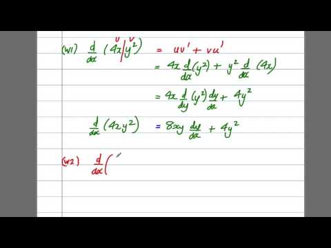 Differentiation (2) - Implicit Differentiation (C4 Maths A-Level)