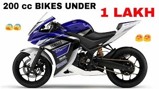 Top 200cc bikes UNDER 1 Lakh in India with prices