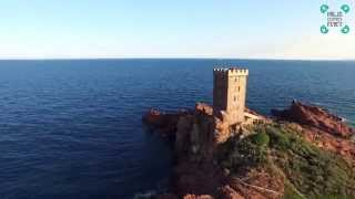 Île d'Or Island Saint-Raphael France Aerial Video