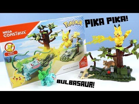 MEGA Construx Pokemon Pikachu Vs. Bulbasaur Speed Build Review
