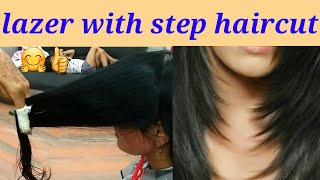 Baixar lazer with step haircut //easy and simple method// step by step full tutorial 2019