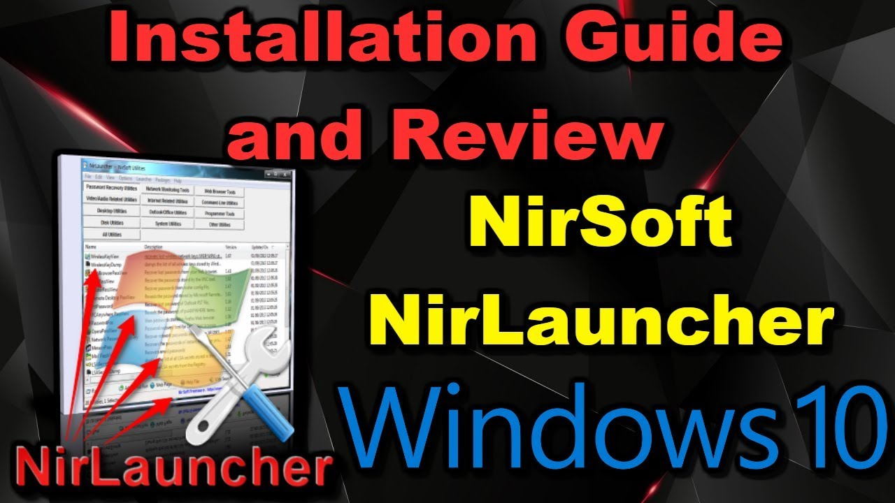 Nirsoft NirLauncher 2018 Installation Guide and Review ...