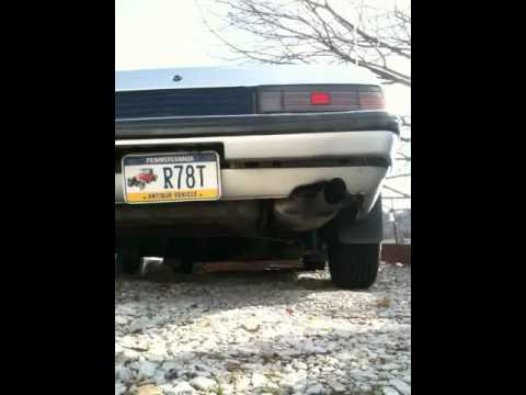 RX7 before and after resonated exhaust tip