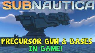 HUGE PRECURSOR GUN & BASES IN GAME! | Mountain Island, Lava Castle, Lost River | Subnautica