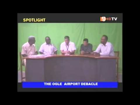 Aviation professionals talking about ogle airport