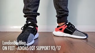 on feet adidas eqt support 93 17