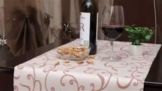 видео Скатерти и салфетки для ресторанов. Заказать печать на скатерти, скатерть с логотипом в Москве