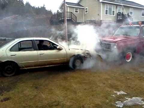 97 Nissan Sentra Burnout