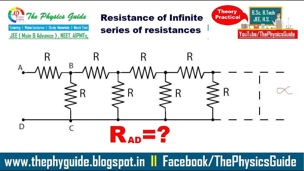 how to solve for infinite series parallel puzzle resistor the