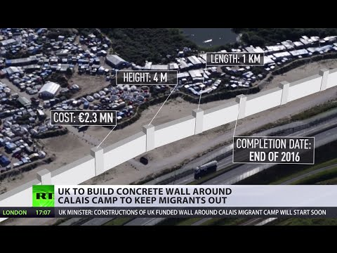 UK to build €2.3mn concrete wall around Calais camp to keep migrants out