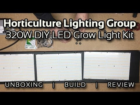 Horticulture Lighting Group HLG 320W XL V2 Quantum Board DIY Kit Unboxing,  Build, & Review