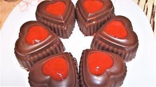 Десерт на день святого Валентина! Творожной Десерт с Клубникой очень Вкусно! dessert.
