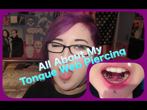 All About My Tongue Web Piercing