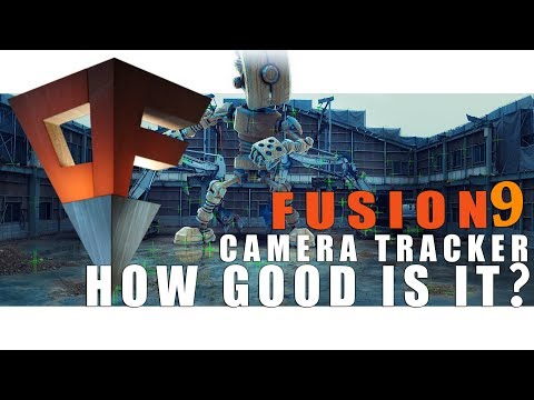 Blackmagic FUSION 9 !! How good is the NEW Camera Tracker ( comparison to Syntheyes)