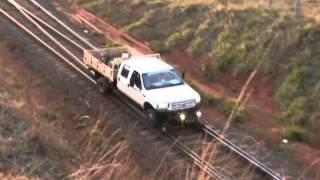 Caminhão Rodo Ferroviário, Entrada do pátio Eldorado em Aparecida do Taboado - M.S.