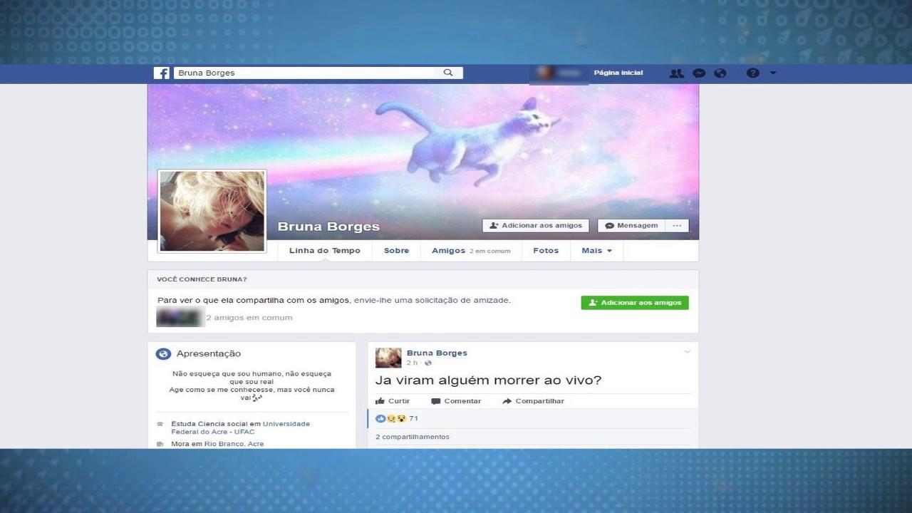 Bruna Andressa se matou ao vivo no instagram [NotíciaLida ...