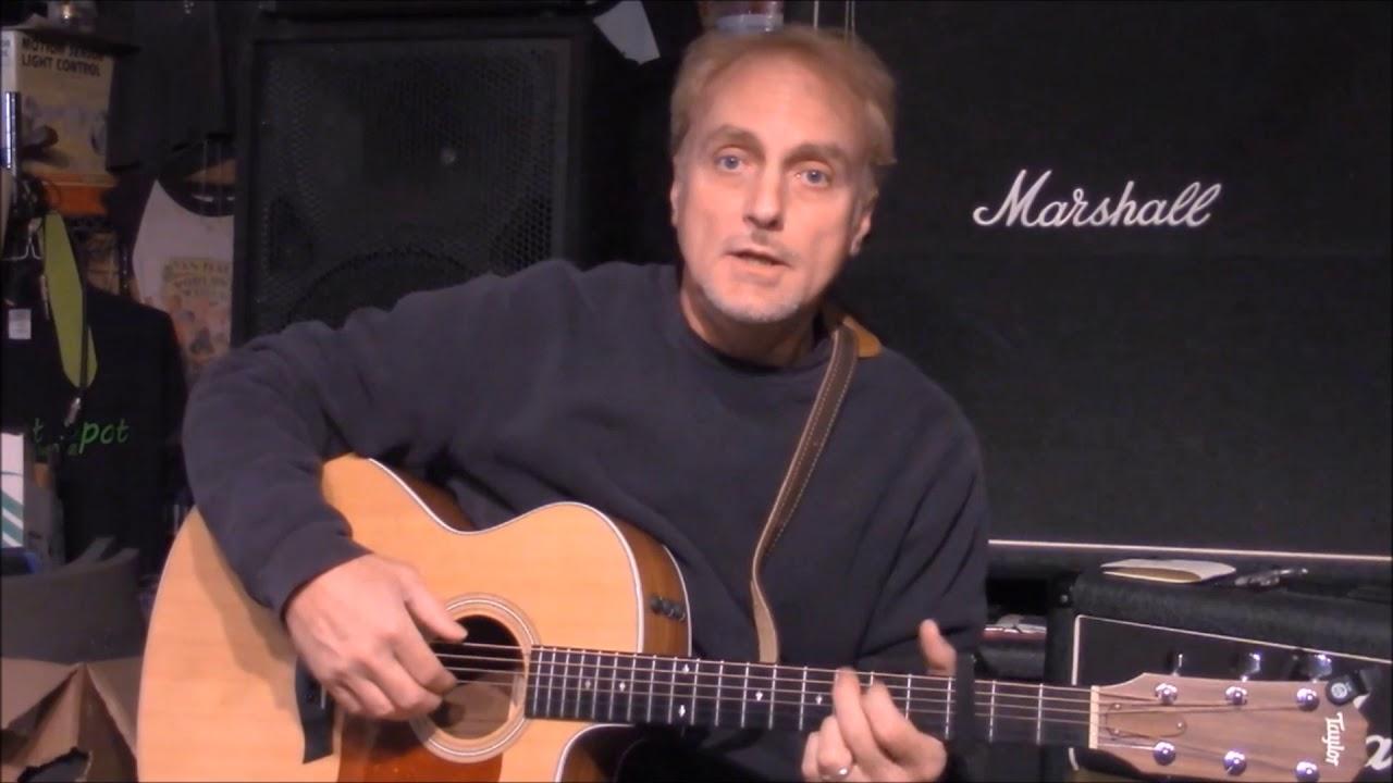 how to play carolina on my mind on guitar