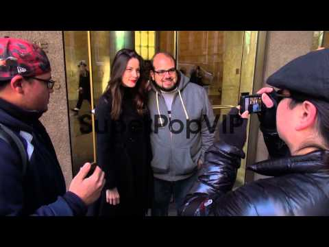 Liv Tyler with fans at the McGraw-Hill Building at Celebr...