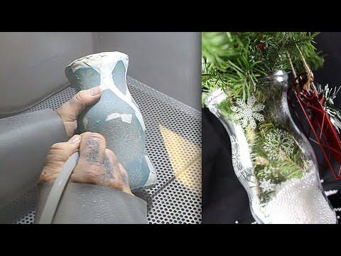 Sandcarve An Odd-Shaped Glass Vase