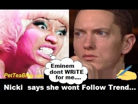 Nicki Minaj says Eminem Doesn't Write her Raps & Pushes Album Back ✍️👀